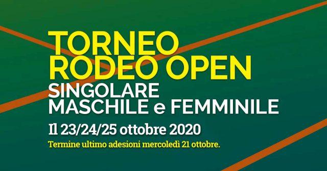 Le nuove date per il Torneo Rodeo Open!