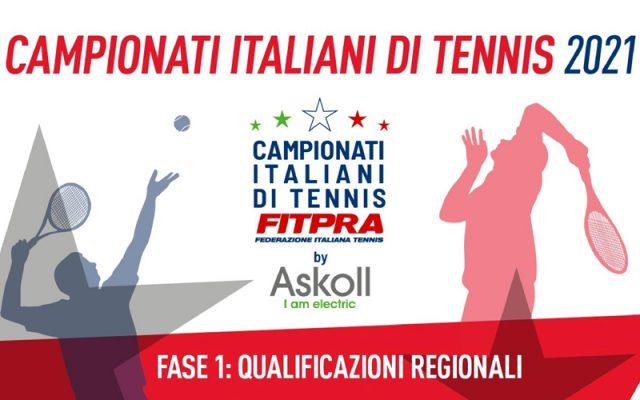 Campionati Italiani di tennis, qualificazioni regionali